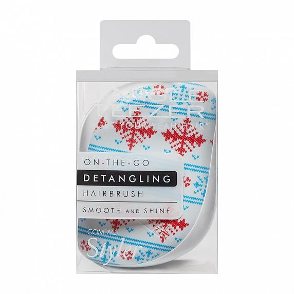 Idea regalo natale per capelli ricci: Tagle Teezer Compact Styler Winter Frost