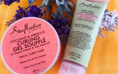 Gel Shea Moisture per capelli ricci: Curling gel soufflé o Frizz defénse styling gel cream?